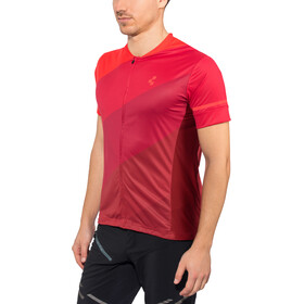 Cube Tour Koszulka rowerowa z zamkiem błyskawicznym Mężczyźni, czerwony
